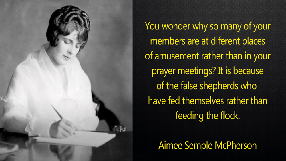 Aimee Semple McPherson Quote